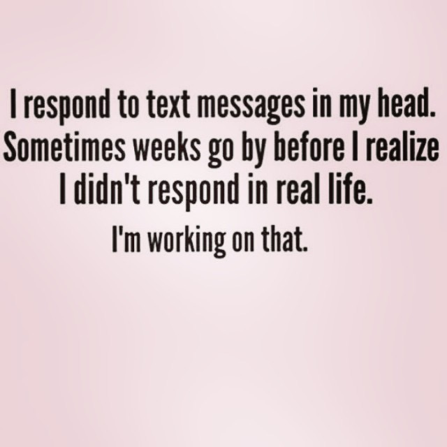 Respond to texts in my head